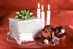 бирка пакета подарка украшений рождества Стоковые Изображения RF
