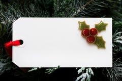 бирка подарка стоковое изображение
