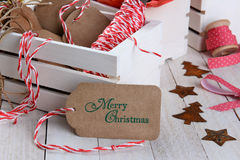 Бирка подарка рождества Стоковые Изображения