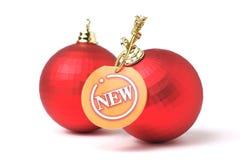 бирка рождества шариков новая Стоковые Фотографии RF