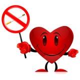 бирка сердца дьявола для некурящих иллюстрация штока
