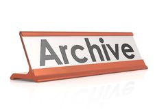 Бирка таблицы архива Стоковая Фотография
