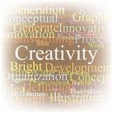 бирка творческих способностей облака Стоковые Фото