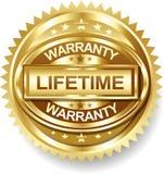 Бирка ярлыка гарантии продолжительности жизни вектора золотая Стоковые Фото