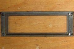 Бирка - ярлык - на деревянной доске Стоковое Изображение