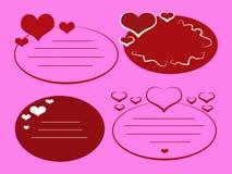 бирки влюбленности розовые Иллюстрация штока