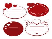 бирки влюбленности Иллюстрация штока