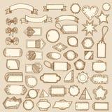 Бирки, ленты, рамки Стоковая Фотография RF