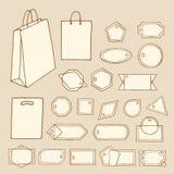 Бирки, ленты, frames-02 Стоковые Изображения