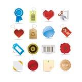 бирки иконы установленные Стоковое Изображение