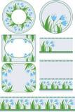 Бирки и предпосылки с флористическими мотивами иллюстрация штока