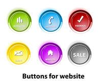 бирки кнопки Стоковые Изображения