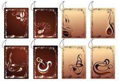 бирки кофе Стоковое фото RF