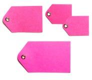бирки подарка бумажные розовые Стоковые Изображения RF