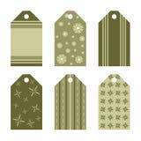 бирки подарка зеленые Стоковая Фотография