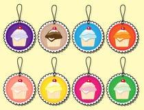 бирки подарка пирожня бесплатная иллюстрация