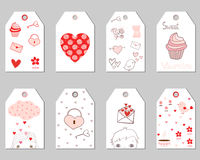 Бирки подарка на день ` s валентинки Иллюстрация штока