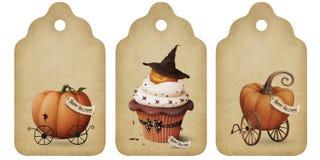 бирки приглашения праздника halloween Стоковая Фотография
