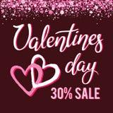 Бирки продажи сердца валентинок Стоковые Изображения