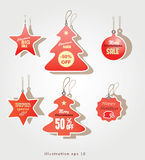 Бирки продажи рождества Стоковое фото RF