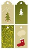 бирки рождества установленные иллюстрация штока