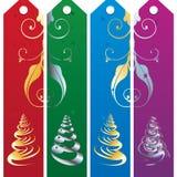 бирки рождества Стоковое Изображение RF