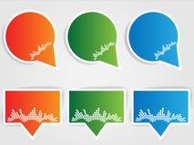 бирки сбывания установленные Стоковые Фотографии RF