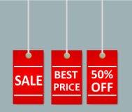 Бирки стикеров продажи с специальной рекламой предлагают, самое лучшее цена иллюстрация штока
