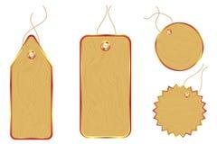 бирки стикеров цены деревянные иллюстрация штока