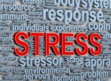 бирки слова 3d стресса иллюстрация штока