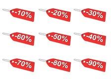 бирки цены установленные Стоковое фото RF