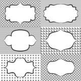 Бирки ярлыка стикера рамки Пробелы шаблона карточки для Стоковые Изображения RF