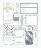 Бирки для дизайна или scrapbook Стоковое Изображение RF