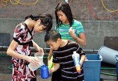 бирманская вода nyc празднества Стоковое Фото