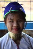 Бирманская молодая женщина жирафа Стоковые Изображения