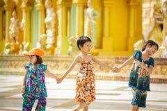Бирманские дети Стоковое Фото