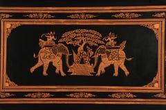 Бирманский декоративный дизайн Стоковая Фотография