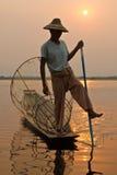 бирманский рыболов стоковое фото