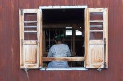 Бирманский соткать Стоковые Фото
