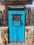 Бирюза двери стоковое изображение rf