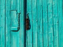 бирюза входа двери Стоковая Фотография