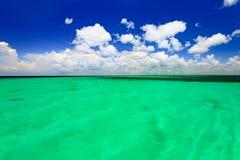 Бирюза Доминиканской Республики карибского моря стоковое изображение