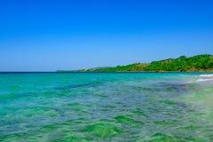 Бирюза Доминиканской Республики карибского моря стоковые фотографии rf