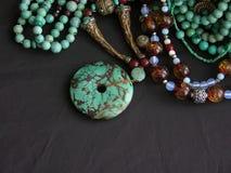 бирюза золота gemstones Стоковые Фотографии RF