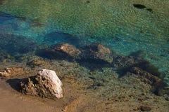 Бирюза и прозрачная вода реки Nera Стоковое Изображение