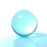 бирюза кристалла шарика стоковая фотография