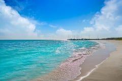 Бирюза Мексика пляжа Майя Ривьеры карибская стоковые изображения