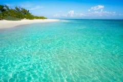 Бирюза Мексика пляжа Майя Ривьеры карибская стоковые изображения rf