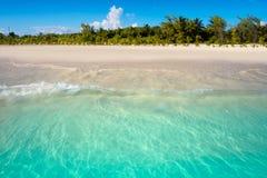 Бирюза Мексика пляжа Майя Ривьеры карибская стоковое фото