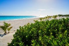 Бирюза Мексика пляжа Майя Ривьеры карибская стоковое изображение